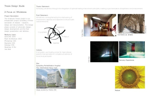 Thesis Design Studio                      Thesis Statement:                                          Achieving wholeness t...