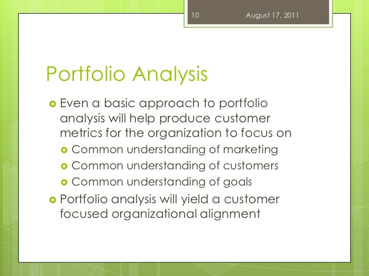 customer portfolio analysis In the present article a framework for performing customer portfolio analysis is  described and applied, using the customer database for a large, retail-direct.