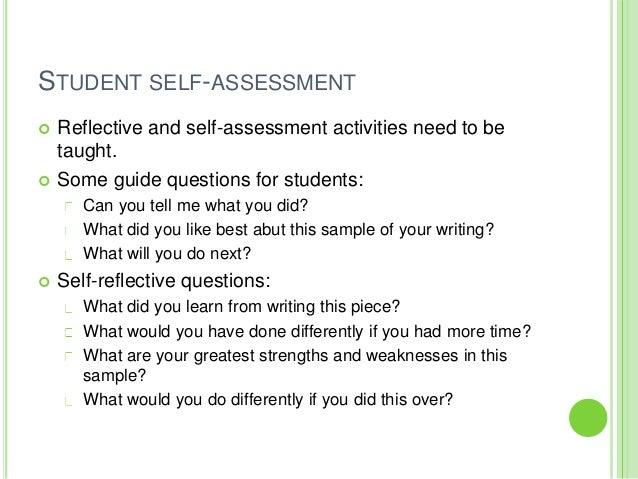 essay self evaluation questions