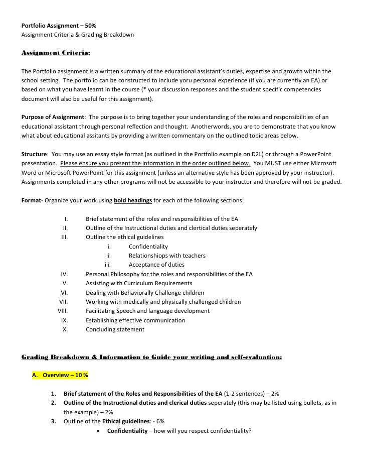 grading rubric for writing assignments In general, thoughtful, critical and clear responses to the assignment or competence are passing papers in which the writing obscures or impedes the instructor's.