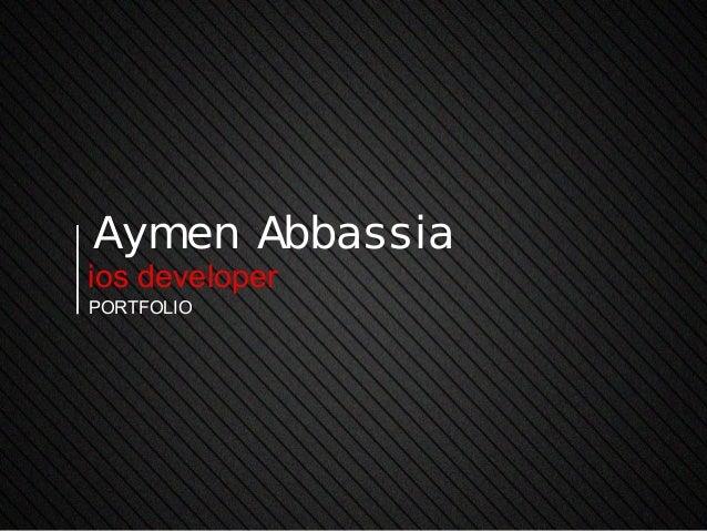 Aymen Abbassiaios developerportfolio