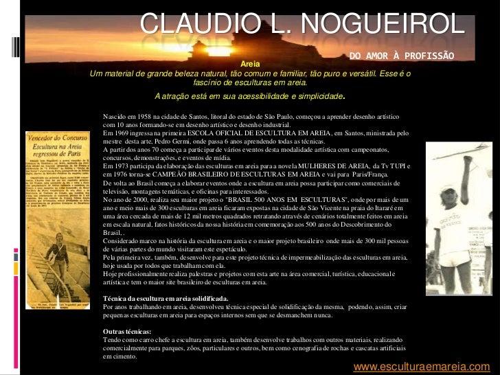CLAUDIO L. NOGUEIROL                                                                                             DO AMOR À...