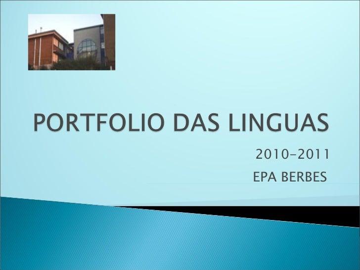 Portfolio das linguas