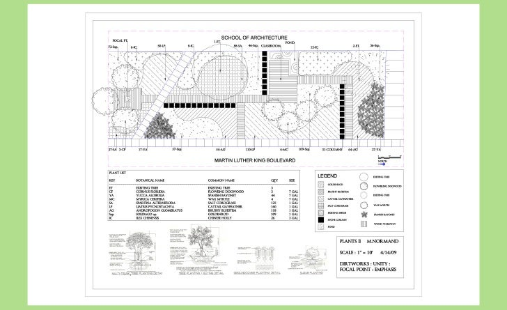 university outdoor learning landscape design