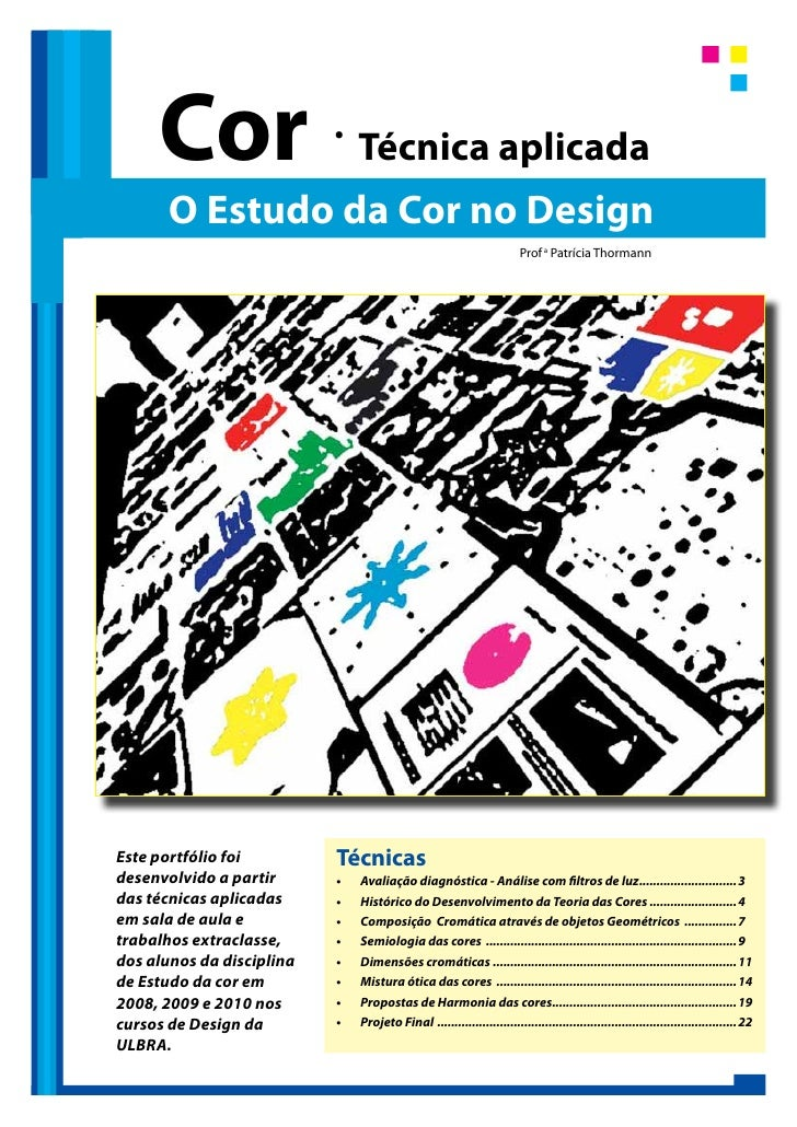Cor                   .                                Técnica aplicada       O Estudo da Cor no Design                   ...