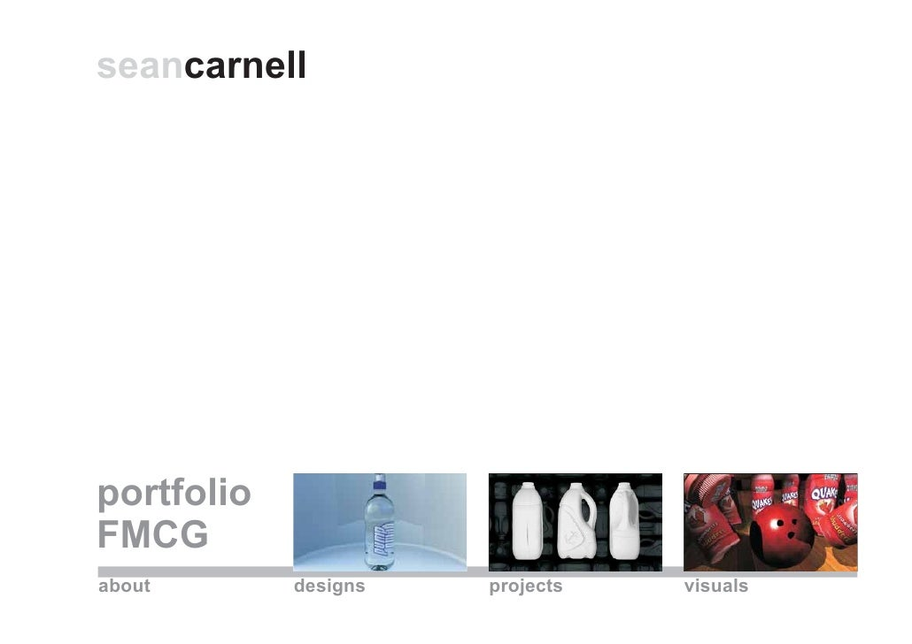seancarnell     portfolio FMCG about       designs   projects   visuals