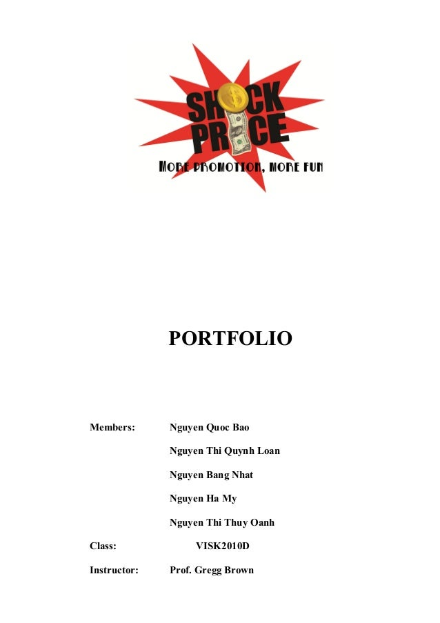 Portfolio for price shock in hr