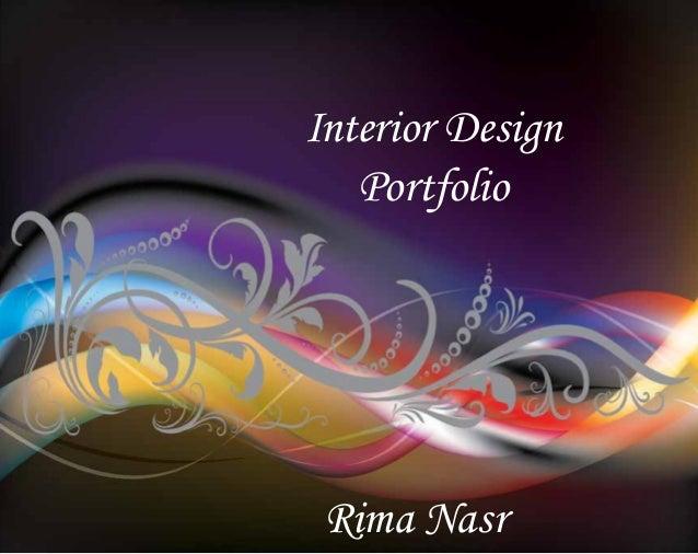Rima Nasr - Interior Design Portfolio
