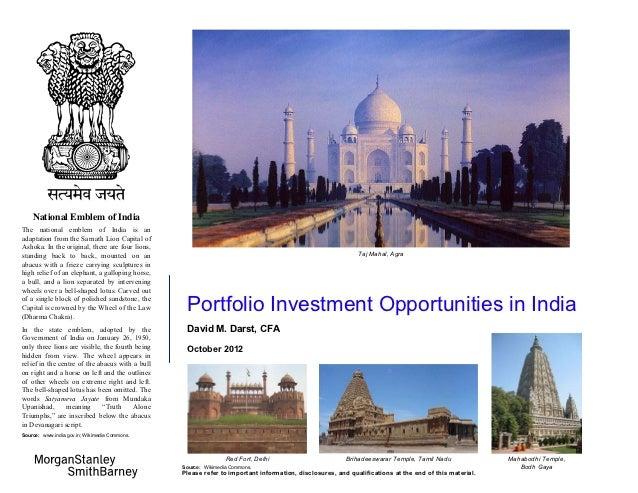 Portfolio investment opportuities in india