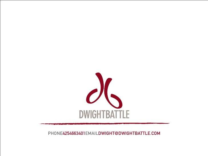 Dwight Battle - Portfolio