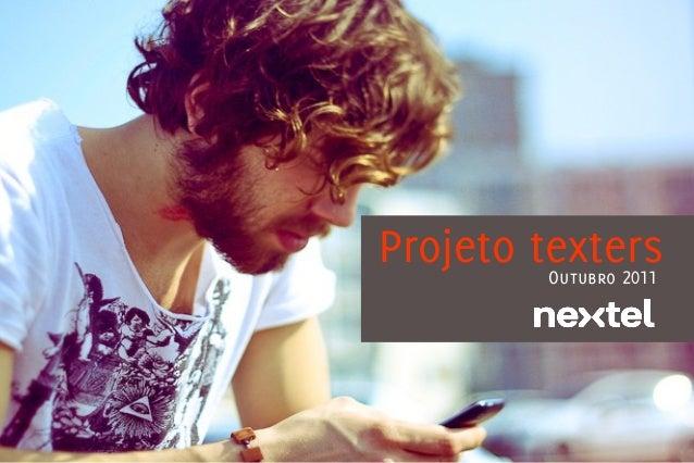 Projeto texters        Outubro 2011