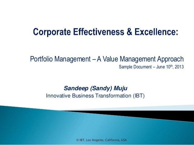 Portfolio management sample