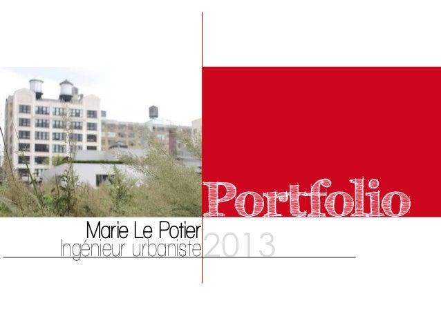 PortfolioMarie Le Potier Ingénieur urbaniste2013