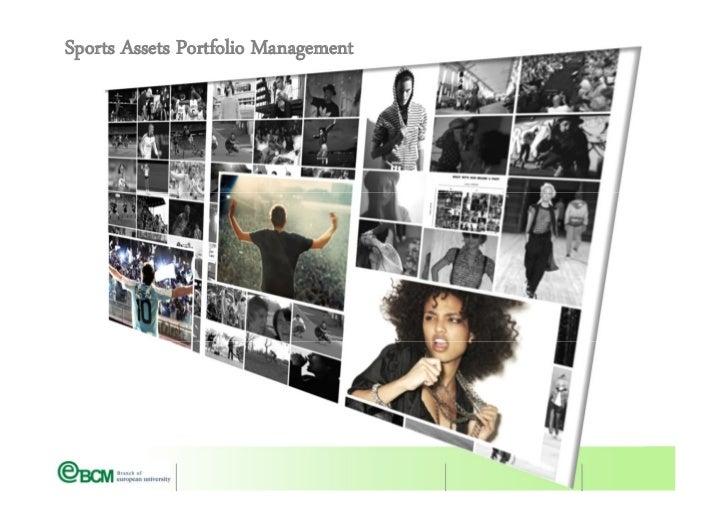 Sports marketing Portfolio Mngt
