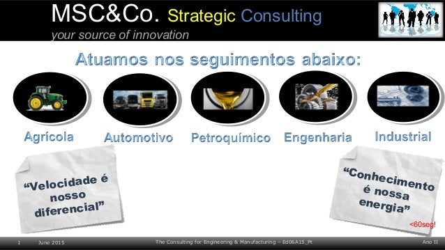 Ano II1 June 2015 The Consulting for Engineering & Manufacturing – Ed06A15_Pt MSC&Co. Strategic Consulting your source of ...