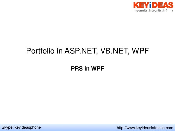 ASP.net WPF Projects