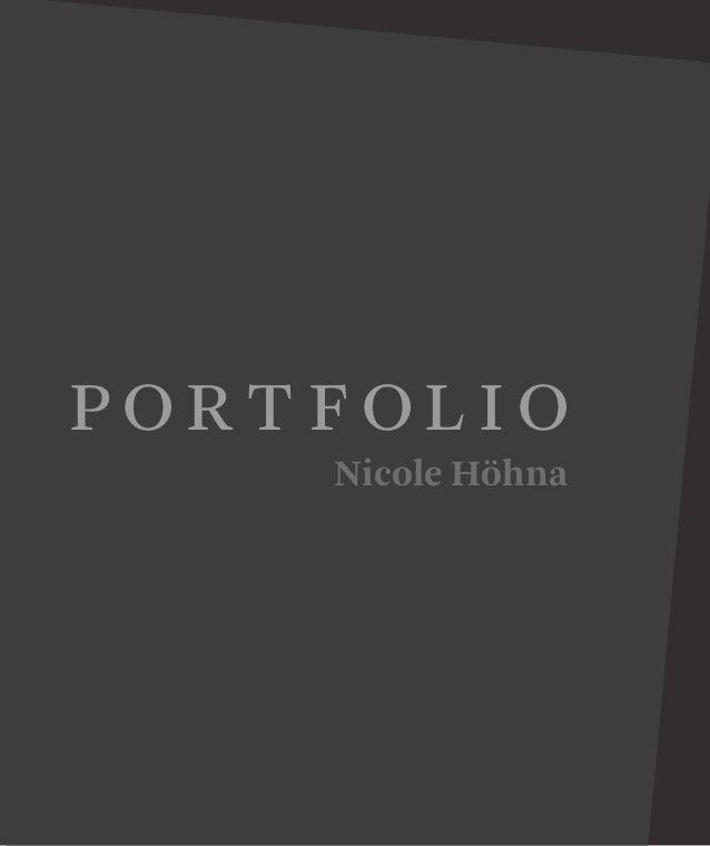 Portfolio Nicole Höhna
