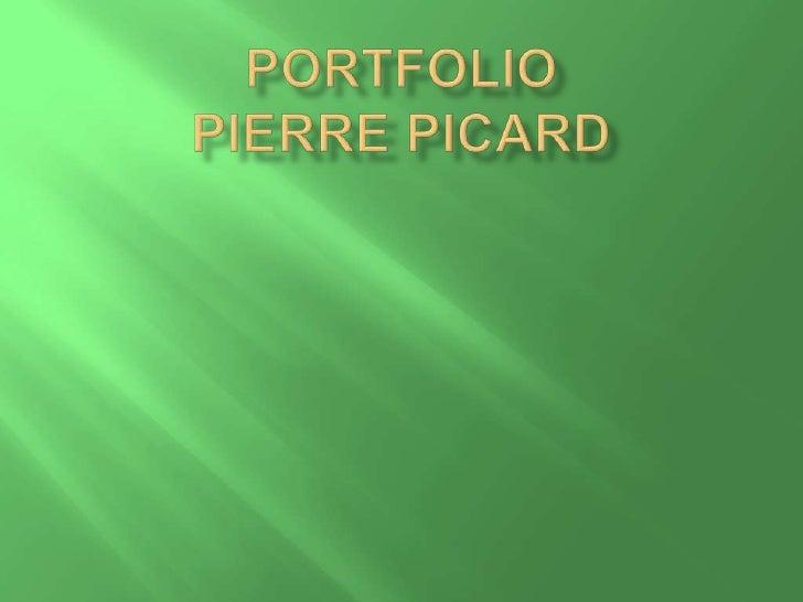 Portfolio Pierre Picard<br />