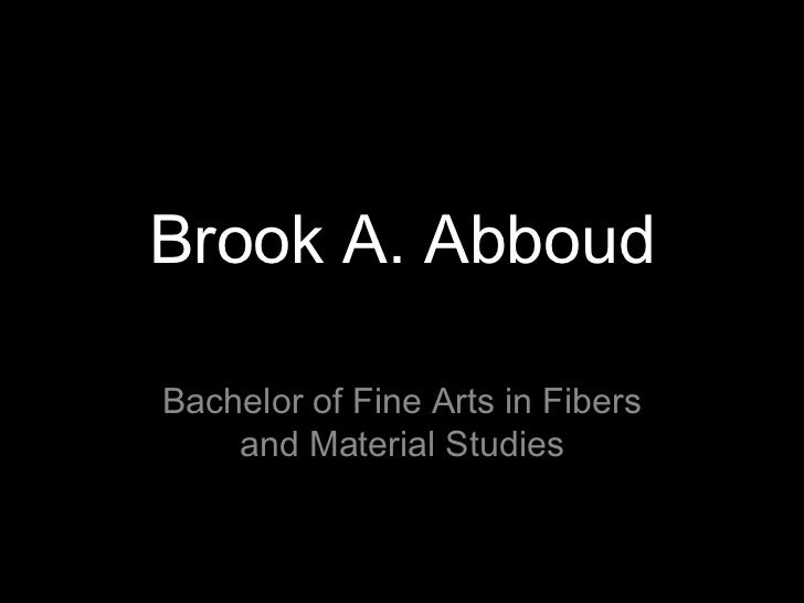 Brook Abboud, Portfolio