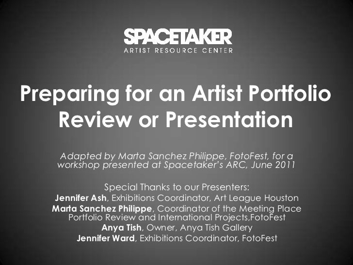 Preparing for an Artist Portfolio Review or Presentation