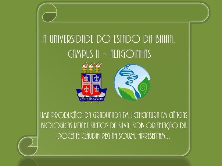 A Universidade do Estado da Bahia,       Campus II – Alagoinhas