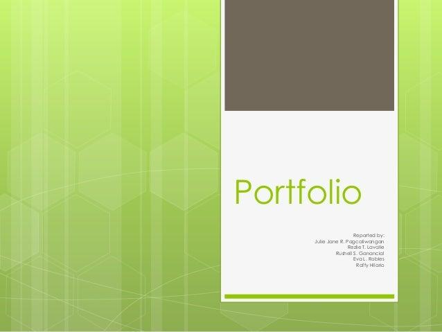 Portfolio For Assessment