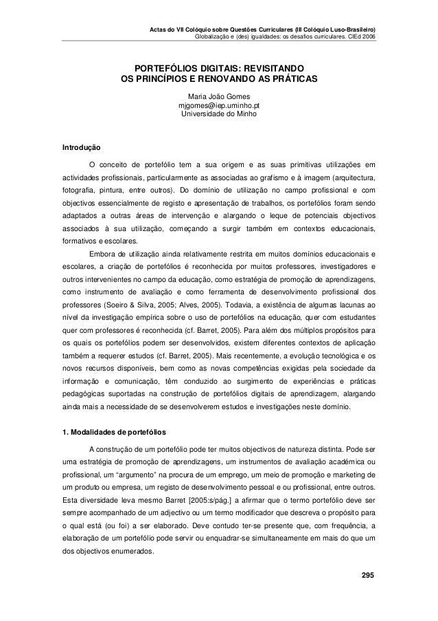 Actas do VII Colóquio sobre Questões Curriculares (III Colóquio Luso-Brasileiro) Globalização e (des) igualdades: os desaf...