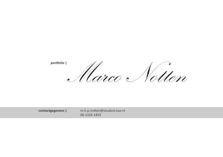 Portfolio of Marco Notten