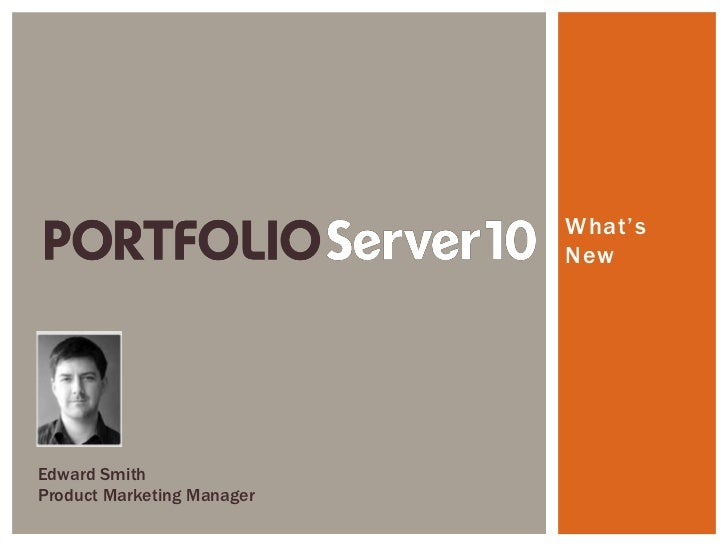 Portfolio server 10 digital asset management sytem