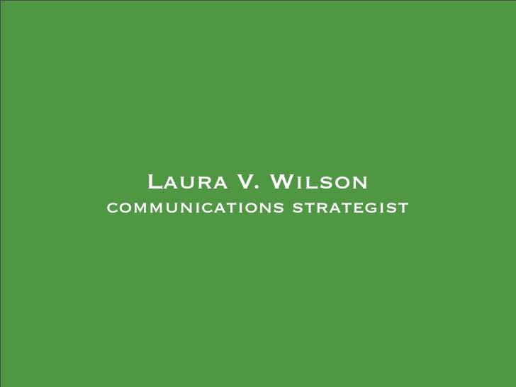 Laura V. Wilson communications strategist