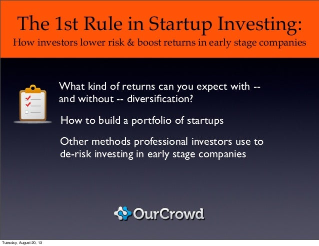 The 1st rule in startup investing: How investors lower risk and boost returns in early stage companies
