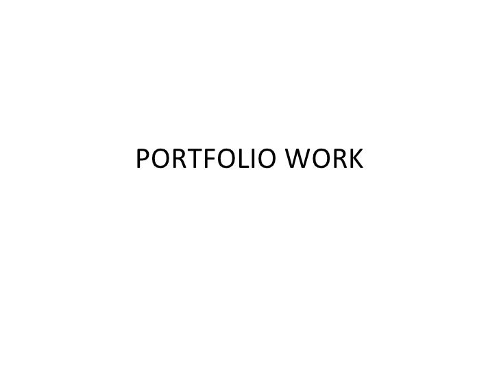 Portfolio Work