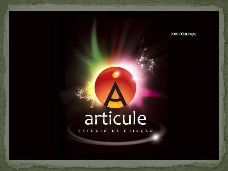 ARTICULE Estúdio de Criação • Portifólio Digital