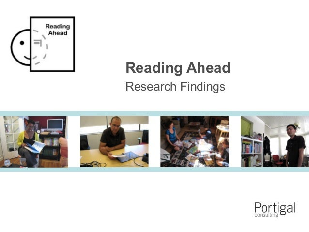 1 Reading Ahead Research Findings