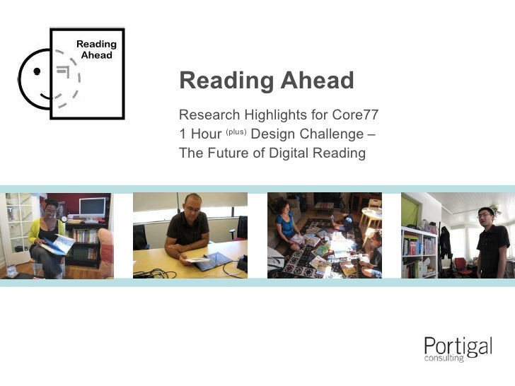 Core77 1HDC: Reading Ahead Research Highlights