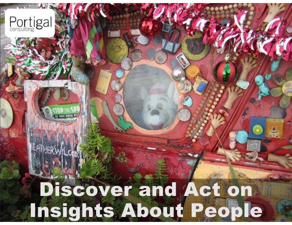 Discover and Act on1   Insights About People