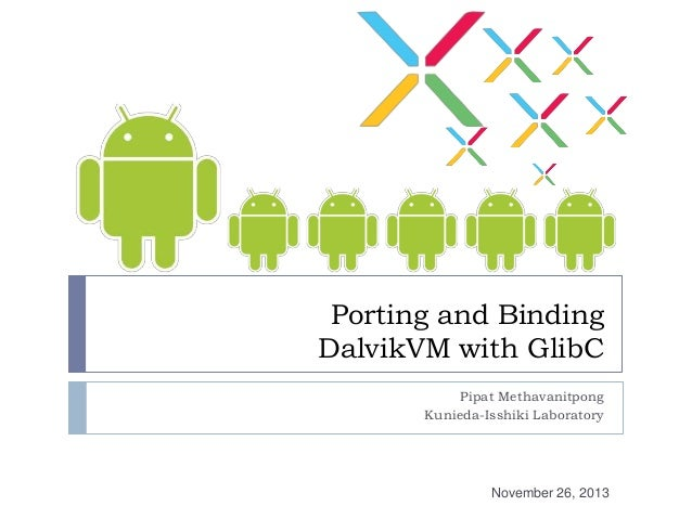 Porting and Binding Dalvik VM with GLibC