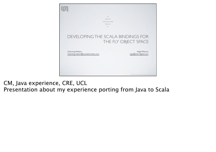 Porting Java To Scala