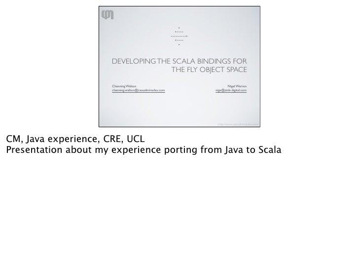 Porting Java To Scala