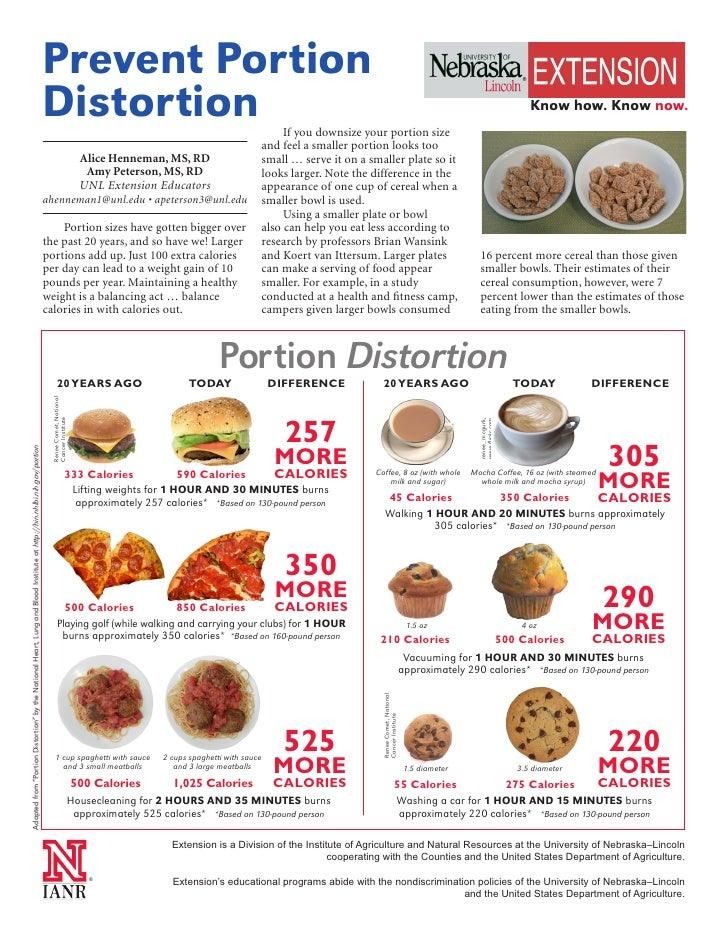 Serving Sizes and Portions