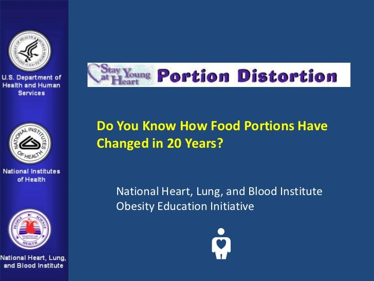 Do You Know How Food Portions HaveChanged in 20 Years?  National Heart, Lung, and Blood Institute  Obesity Education Initi...