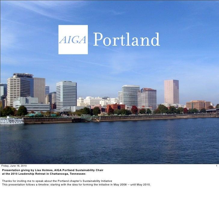 AIGA Portland Sustainability Initiative