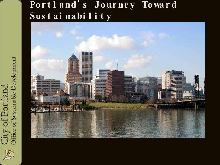 Portland, Oregon's sustainability commitment