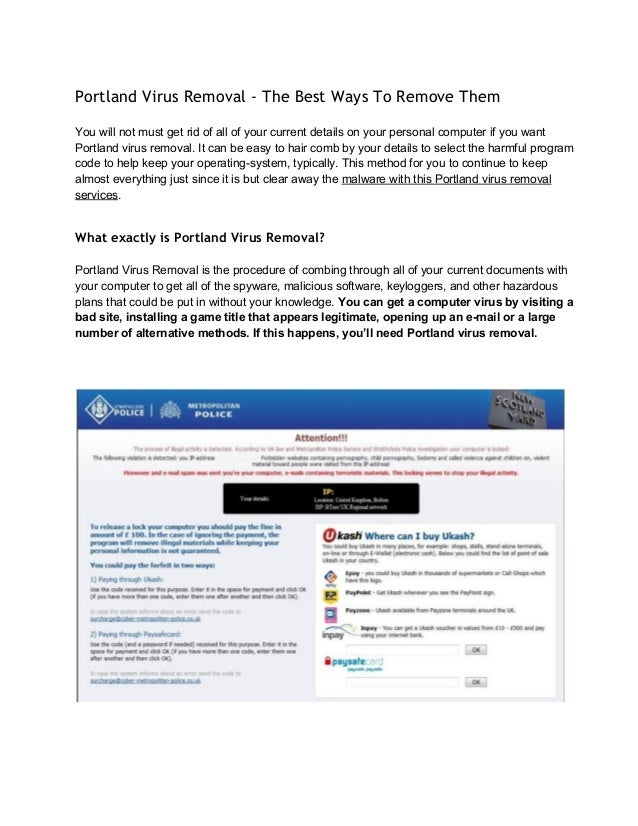 Portland Virus Removal - The Best Ways To Remove Them Youwillnotmustgetridofallofyourcurrentdetailsonyourper...