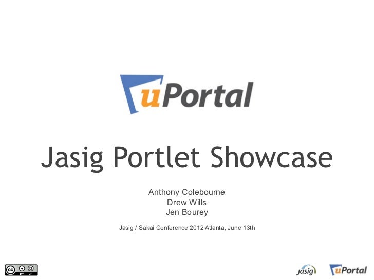 Jasig Portlet Showcase               Anthony Colebourne                   Drew Wills                   Jen Bourey     Jasi...