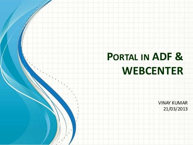 Webcenter Portlal training...