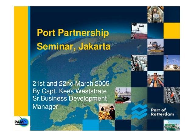 Port Partnership Seminar - Jakarta
