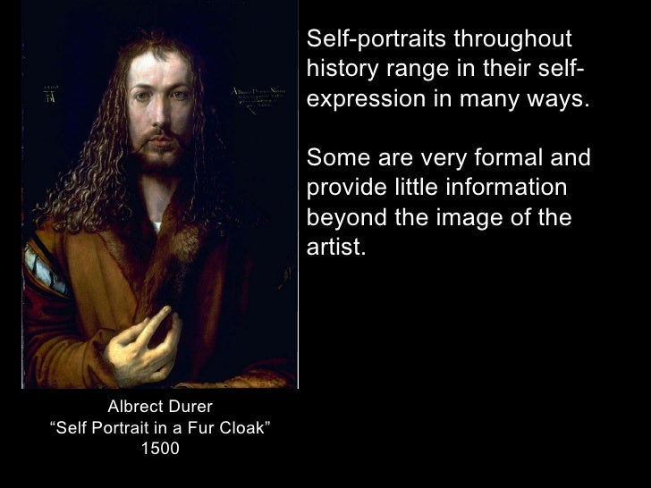 Self portrait assignment