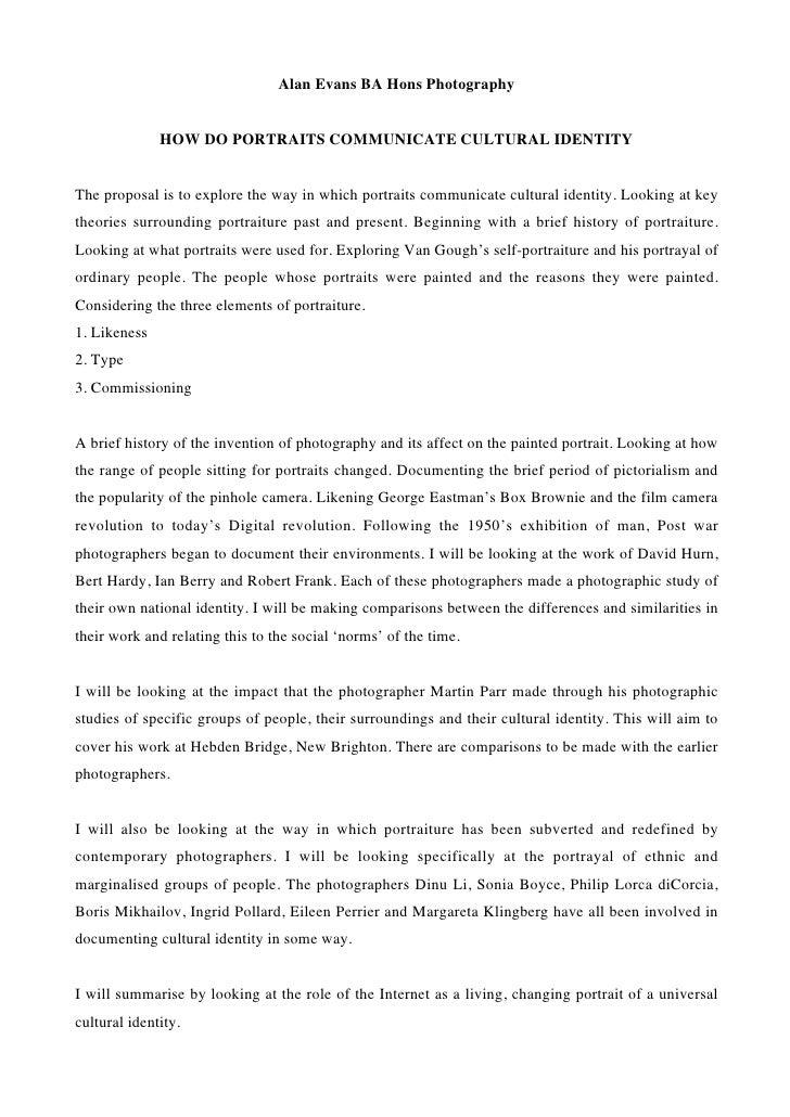Essay On Cultural Identity