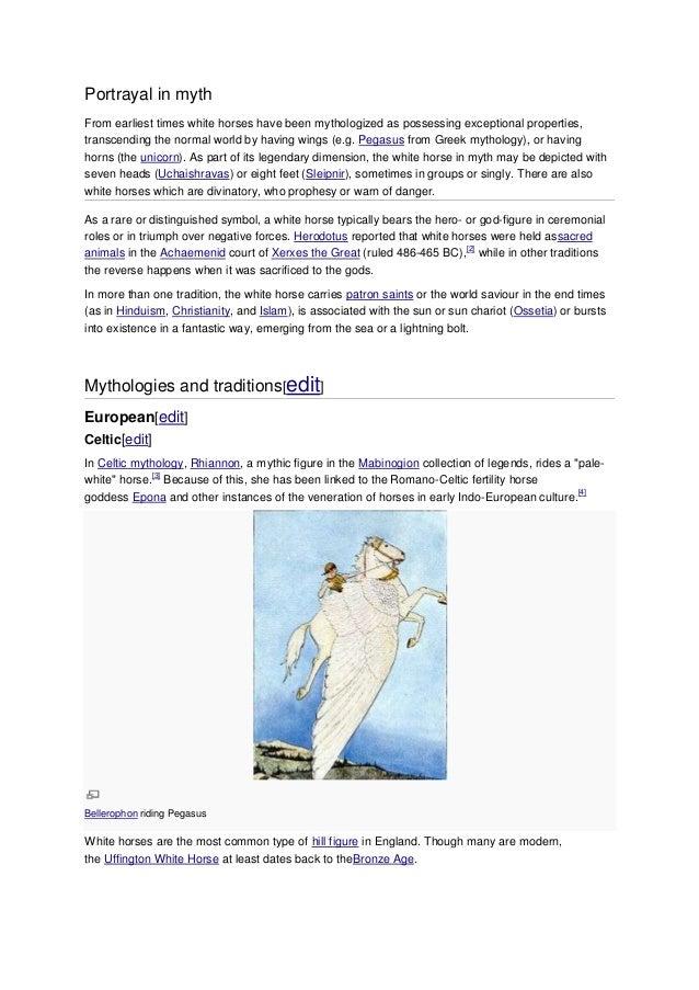 ~~ Portrayal in myth & mythological some speci fic traditions ~~